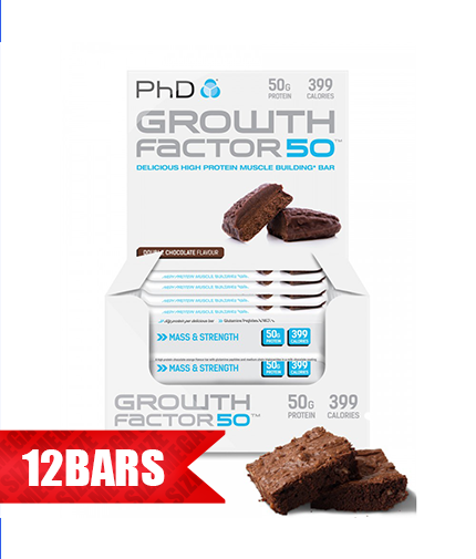PhD Growth Factor 50 Brownie /12 x 100 gr/ 1.200