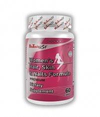 BIOTECH USA Women's Hair Skin & Nails Formula 60 Tabs.