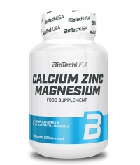 BIOTECH USA Calcium Zinc Magnesium 100 Tabs.