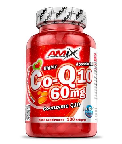 AMIX Coenzyme Q10 60 mg. / 100 Softgels.
