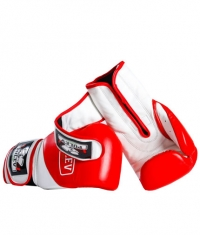 PULEV SPORT Red-White Boxing Gloves w/ Velcro