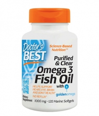 DOCTOR\'S BEST Purified & Clear Omega 3 Fish Oil 1000mg. / 120 Soft.