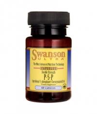 SWANSON P-5-P (Pyridoxal-5-Phosphate) Coenzymated Vitamin B-6 40mg. / 60 Caps