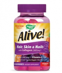 NATURES WAY Alive! Premium Hair, Skin & Nails / 60 Gummies