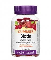 WEBBER NATURALS Biotin Gummies / 60 Gummies