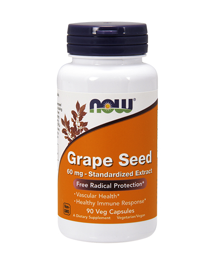 now Grape Seed Antioxidant 60mg. / 90 VCaps.