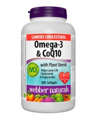 WEBBER NATURALS Lowers Cholesterol Omega-3 & CoQ10 / 200 Softgels