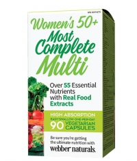 WEBBER NATURALS Women's 50+ Most Complete Multi / 90 Caps