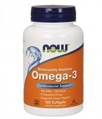NOW Omega 3 Fish Oil 1000 mg. / 100 Softgels