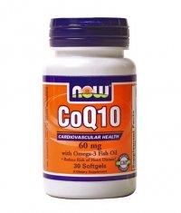 NOW CoQ10 Omega 3 Fish Oil  30 Softgels