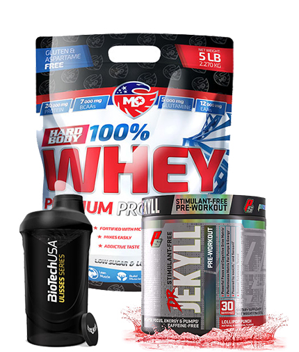 promo-stack MLO WHEY + PRE WORKOUT + SHAKER