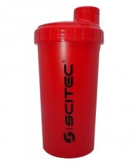 SCITEC Shaker / 700 ml / Red