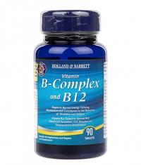 HOLLAND AND BARRETT Vitamin B-Complex and B12 / 90 Tabs