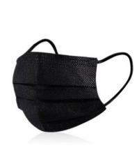 CONSUMATIVES Disposable Mask / Black / 50 Pieces