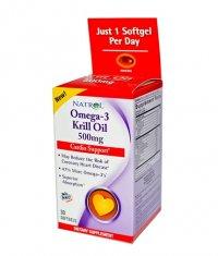 NATROL Omega-3 Krill Oil 500mg. / 30 Softgels
