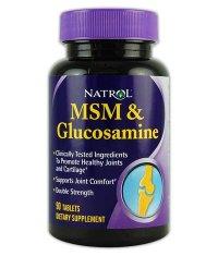 NATROL MSM & Glucosamine  90 Tabs.