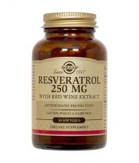 SOLGAR Resveratrol 250mg. / 30 Softgels