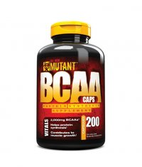 MUTANT 100% Free Form BCAAs In Ultra-fast Capsule Delivery / 200caps