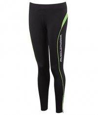 MUSCLE PHARM Ladies Leggings / black-green