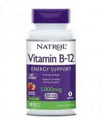 NATROL Vitamin B-12 5000mcg Fast Dissolve / 100tabs.