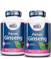 PROMO STACK HAYA LABS Panax Ginseng 200mg. / 120 Vcaps. / X2