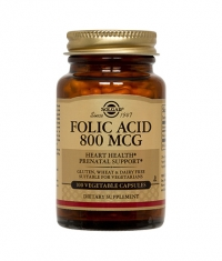 SOLGAR Folic Acid 800 mg / 100 tabs.