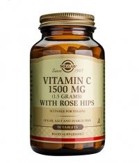 SOLGAR Vitamin C + Rose Hips 1500mg / 90 tabs.